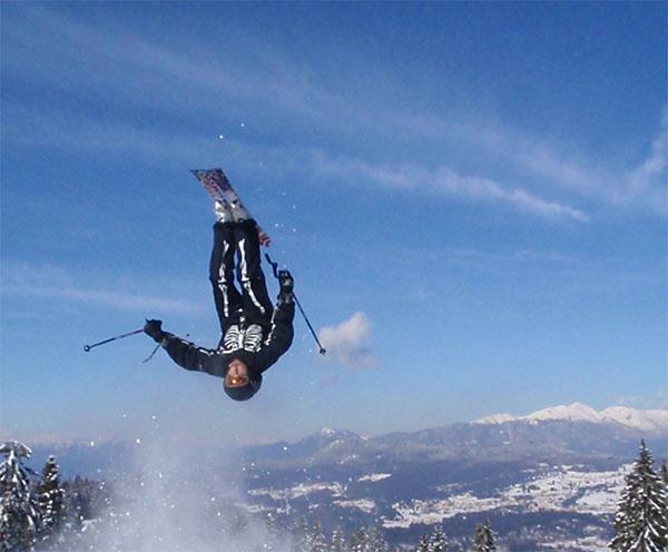 Enrico Luciolli - backflip ski